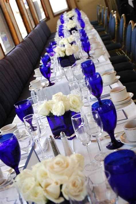 Royal Blue And Ivory Wedding Decorations