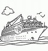 Cruise Ship Coloring Pages Drawing Transportation Disney Water Real Boat Printables Ships Titanic Wuppsy Columbus Printable Transport Print Drawings Line sketch template