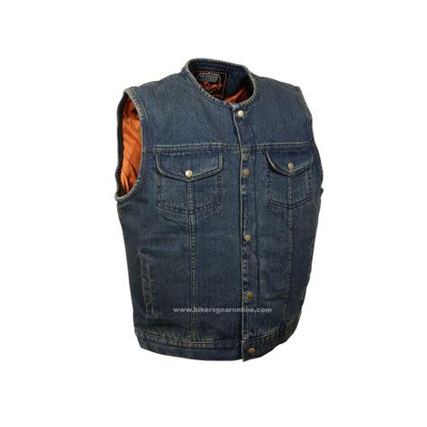 motorcycle jacket vest men 39 s son of anarchy blue denim motorcycle bikers gear