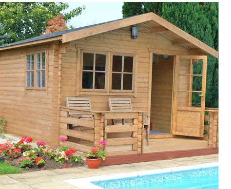 12X12 Kinver 34mm Tongue & Groove Timber Log Cabin ...