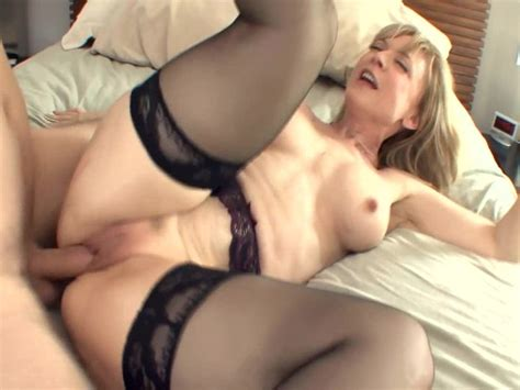 Big Boobed Blonde Milf In Stockings And A Garter Free