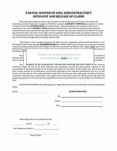 contractors help desk forms With partial lien waiver template