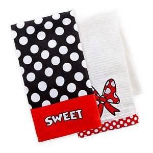 disney kitchen towels your wdw disney dish towel set minnie mouse sweet