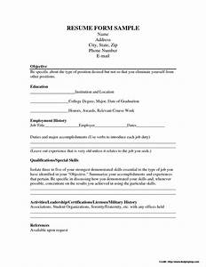 resume application form free download resume resume With free resume application