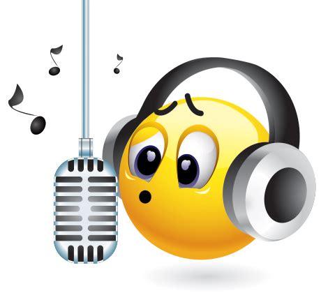singing emoji singing emoticon symbols emoticons