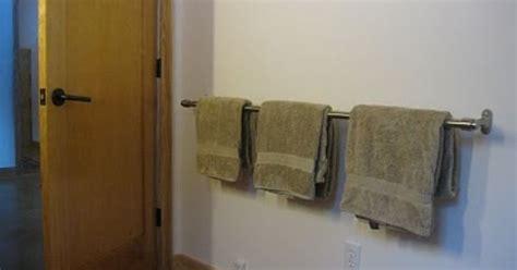 ikea curtain rod  extra long towel bar bathroom