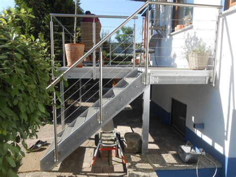anbaubalkon mit treppe anbaubalkon hermann g 246 tz metallbau edelstahldesign