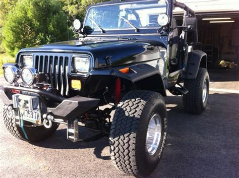 jeep wrangler 2 door modified sell used custom 1994 jeep wrangler base sport utility 2