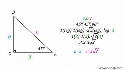 Triangle Right Special Triangles Side Solving Sides