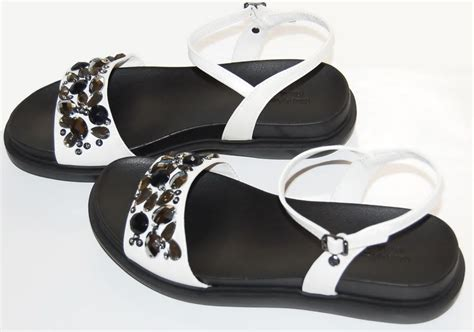 white embellished sandals simply vera wang brand