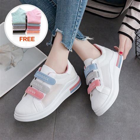 sepatu kasual untuk warna putih casual breathable shoes shopee indonesia