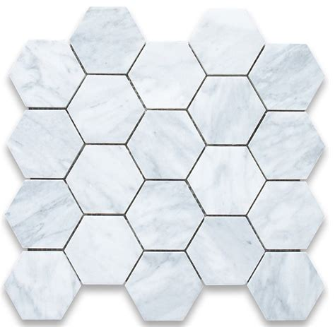 carrara marble hexagon mosaic tile traditional wall and floor tile by center