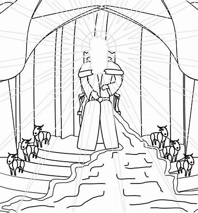Isaiah Coloring Pages Vision Temple Train God