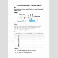 Rates Of Reaction Experiments Worksheets By Missmunchie  Teaching Resources