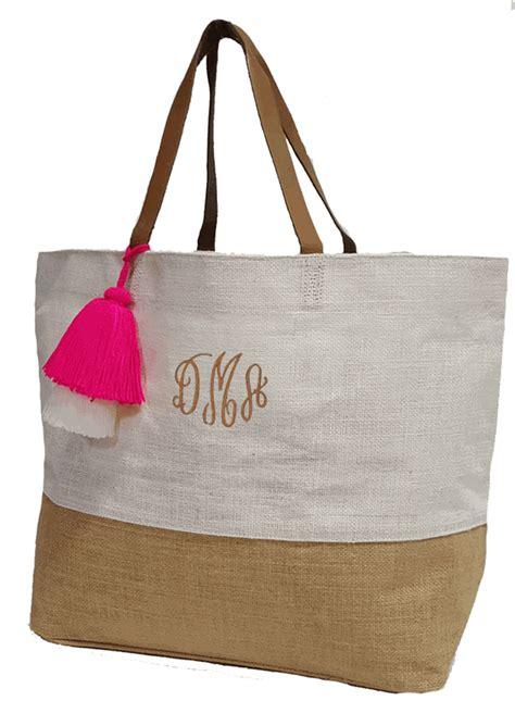 monogram summer beach bags