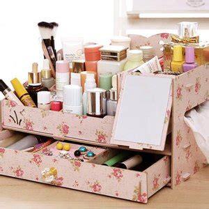 jual tempat make up rak kosmetik kaca kayu mirror storage