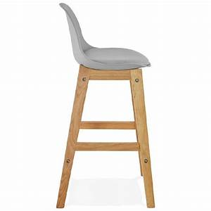Chaise Mi Hauteur : tabouret de bar chaise de bar mi hauteur design scandinave florence mini gris clair ~ Teatrodelosmanantiales.com Idées de Décoration