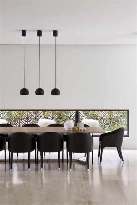comedores decorados en blanco  negro