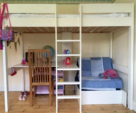 Cool Bunk Beds With Desk White Loft Bed Low Loft Beds