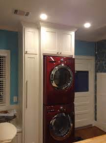 Laundry Room with Stacked Washer and Dryer LG