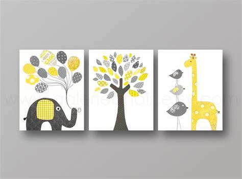chambre de bébé originale lot de 3 illustrations pour chambre d 39 enfant et bebe jaune