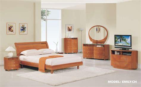 emily bedroom set  cherry finish  global furniture