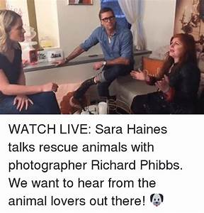 Sas O WATCH LIVE Sara Haines Talks Rescue Animals With ...