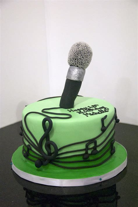 microphone cake edible  notes surround   tone gr flickr
