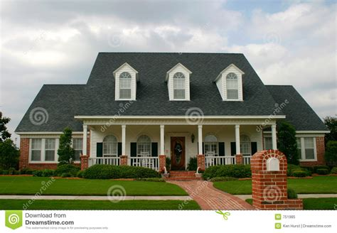 New Classic Style House Stock Image Image Of Garden
