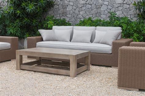 renava pelican outdoor beige wicker sofa set by vig l