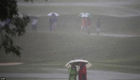 pga championship play suspended    hours