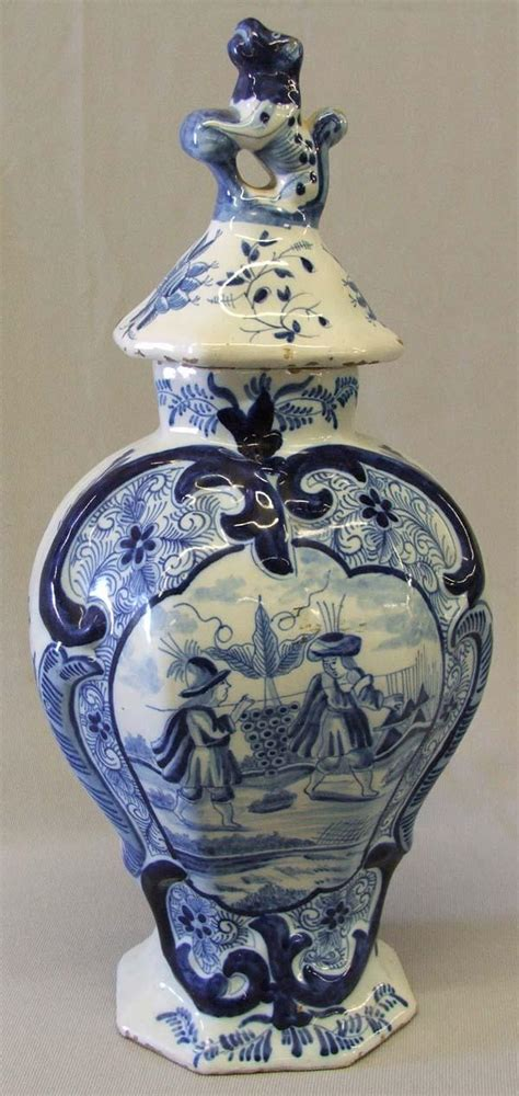 Delfter Porzellan Preise by Antique Blue White Delft Lidded Vase