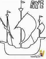 Ship Pirate Coloring Pages Tall Boys Colorable Yescoloring Pirates Seas Boats sketch template
