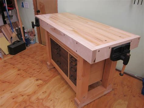 workbench   big matts monster hybrid finewoodworking