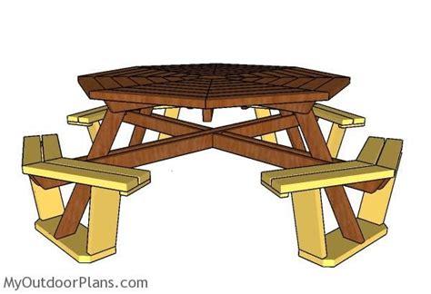 octagonal picnic table plans  picnic table