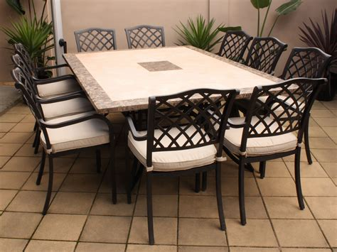 furniture contemporary teak and metal patio dining table
