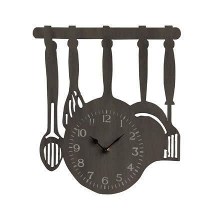 horloge cuisine originale horloge cuisine achat vente horloge métal cdiscount
