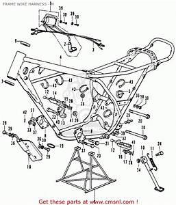 Honda Cr250m Elsinore 1973 K0 Usa Frame Wire Harness
