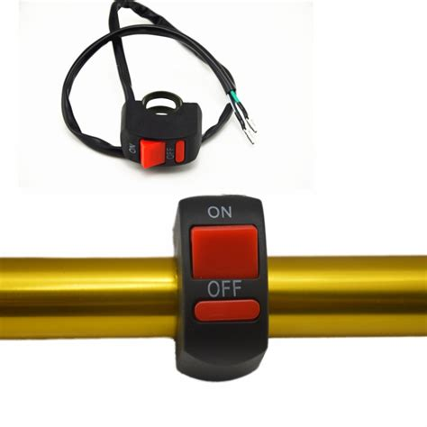 on off light switch universal motorcycle handlebar fog light switch on off