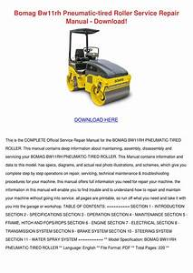 Bomag Bw100ad 3 Wiring Diagram