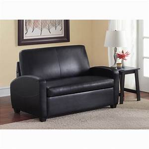 Sofa bed twin beautiful mainstays sofa sleeper black for Black sofa bed walmart
