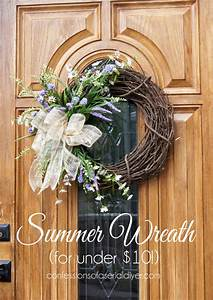 DIY Summer Wreath for Under $10!! Confessions of a