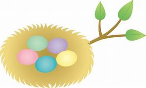Bird's Nest clipart animated - Pencil and in color bird's ...