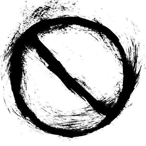 4 Grunge No Sign (PNG Transparent) | OnlyGFX.com