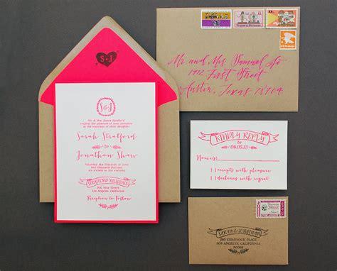 diy invitations diy tutorial neon kraft paper wedding invitations