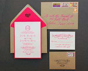 diy tutorial neon kraft paper wedding invitations With wedding invitations not on paper