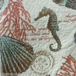 Cynthia Rowley Bedding Collection by Coastal Collection Sea Life Twin Quilt Seashells Corral