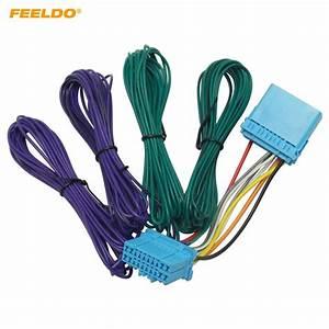 Feeldo 1set Car Radio Wire Harness Adapter For Honda 1998