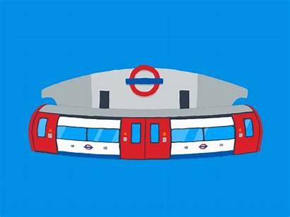 Tube London Underground Train Splash Animation Dribbble