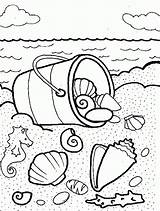 Coloring Shells Sea Pages Seashells Bucket Beach Printable Colouring Shell Coloringhome Summer Template Animal Sheets Adult Paper Popular Button Using sketch template